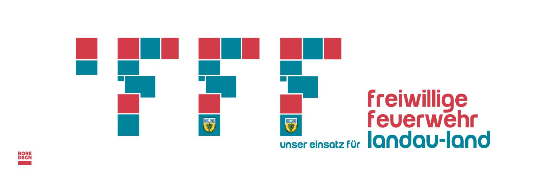 Die Entwicklung des Logos der Freiwilligen Feuerwehr Landau-Land. Design: RORE DESIGN